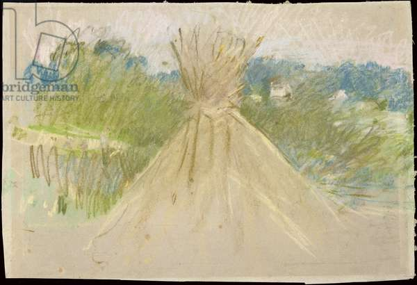 The Small Haystack, 1882 (pastel on paper)