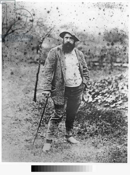 Claude Monet in his garden, 1880 (silver print)