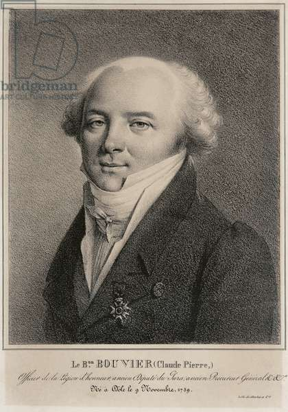 Portrait of Baron Claude Pierre Bouvier, engraved by Jean-Henry Marlet (1771-1847) (litho)