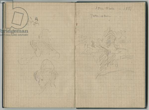 Julie Manet, from a sketchbook, 1885 (pencil on paper)