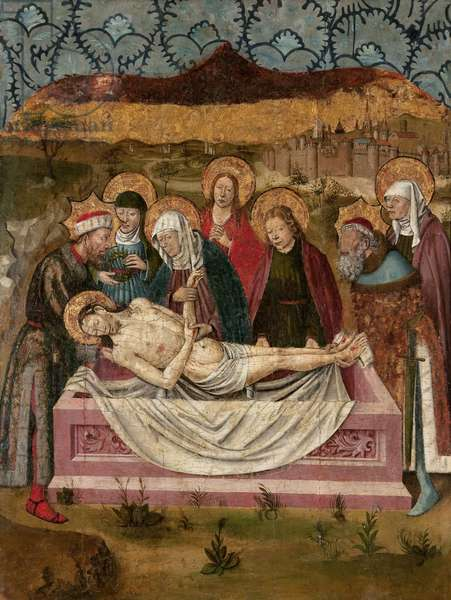The Entombment of Christ (tempera on panel)