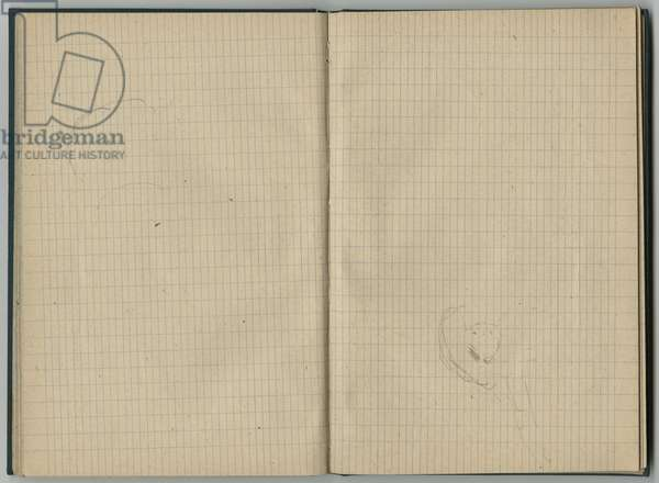 Sketches, from a sketchbook, 1888-89 (pencil on paper)