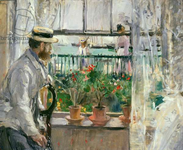 Eugene Manet (1834-92) on the Isle of Wight (oil on canvas)