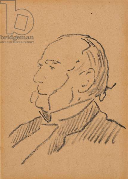 Portrait of Monsieur Jouy, 1879-81 (black pencil on paper)