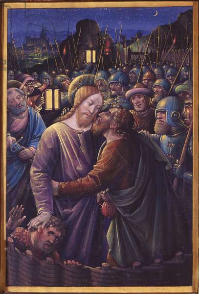 The Kiss of Judas, end of 15th century (vellum)