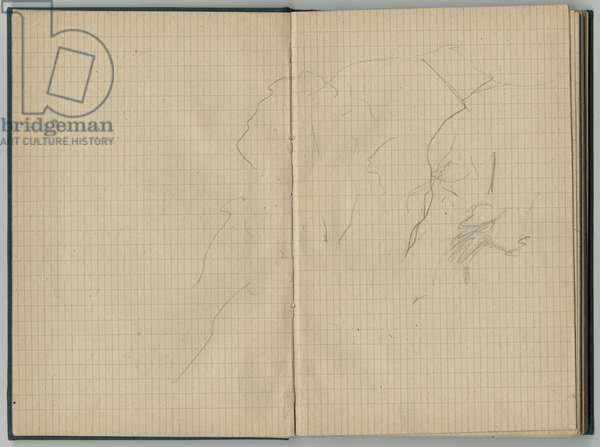 Landscape, from a sketchbook, 1888-89 (pencil on paper)