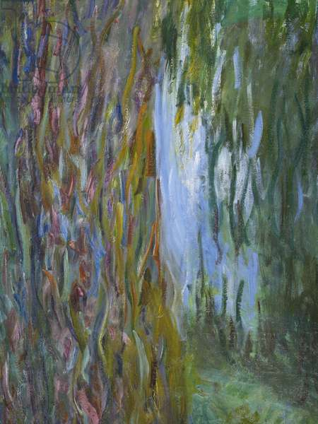 Weeping Willow and the Waterlily Pond, 1916-19 (detail of 182047) (oil on canvas)