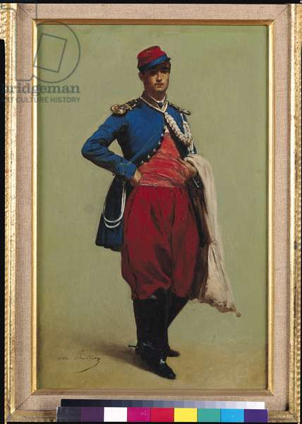 Portrait of Claude Monet (1840-1926) in Uniform, 1861 (oil on canvas)