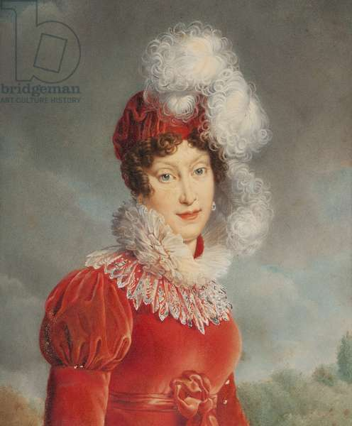 Portrait of Empress Marie Louise (1791-1847) of France in an amazon dress, after a painting by Francois Gerard, 1820 (oil on canvas)