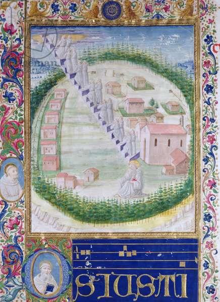 The Dream of St. Romauld (c.951-1027) c.1502 (vellum)