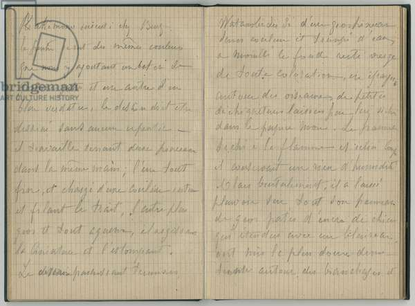 Handwritten pages, from a sketchbook, 1886 (pencil on paper)
