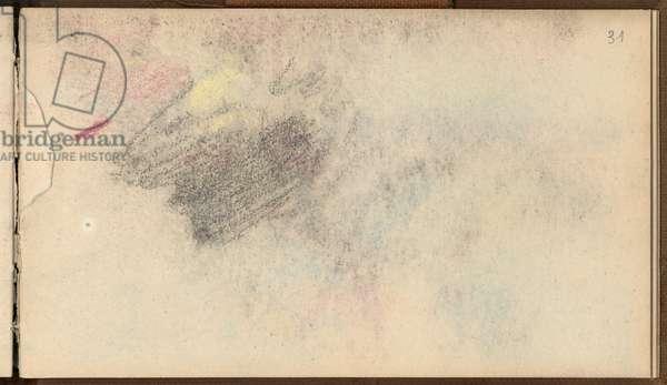 Study (black pencil & pastel on paper)