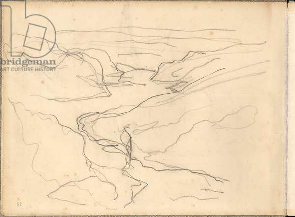 Valley of the Creuse near Fresselines (pencil on paper)