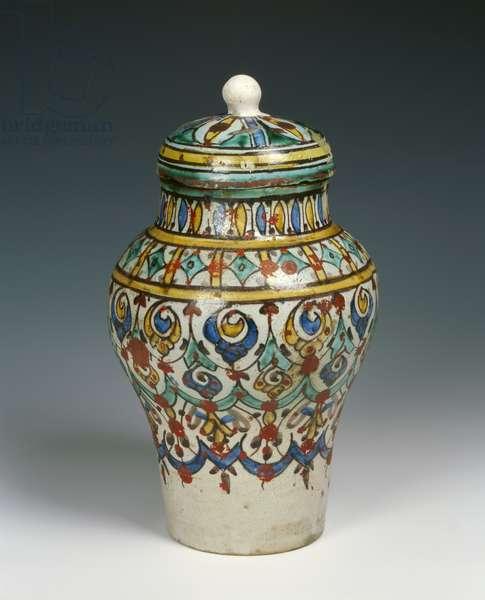 Decorated vase, Moorish (faience)