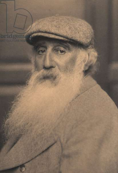 Portrait of Camille Pissarro (1830-1903) (b/w photo)