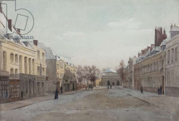 Street scene (w/c on paper)
