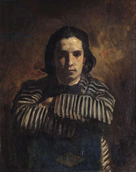 Portrait of Claude Monet (1840-1926) 1865 (oil on canvas)