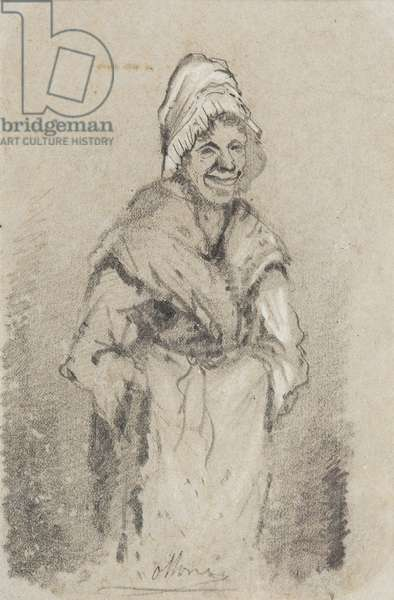 Old Woman from Normandy full face (pencil on paper)