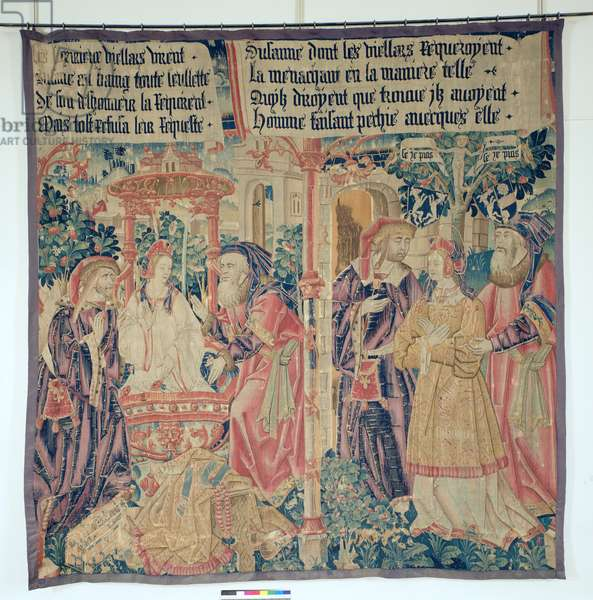 Susanna and the Elders, central panel from the Story of Susanna (tapestry)