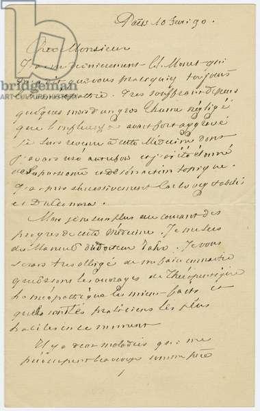 Letter (ink on paper)