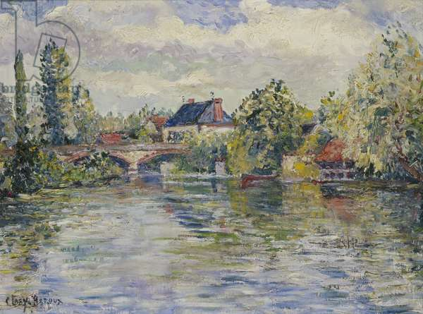 The Bridge of Garennes (oil on canvas)