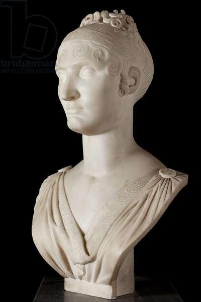 Bust of Elisa Bonaparte, Princess Baciocchi (marble) (see also 414784 & 414785)