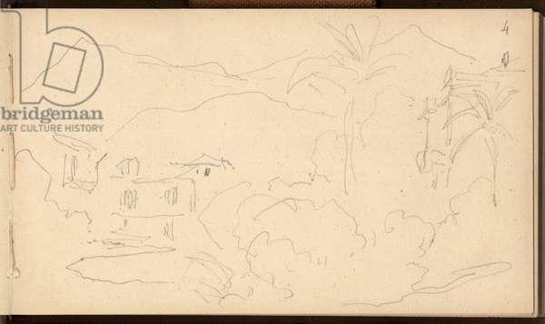 Strada romana at Bordighera, c.1884 (pencil on paper)