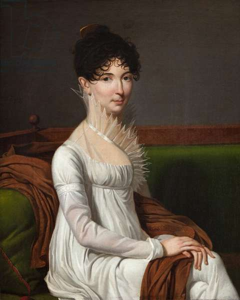Portrait of a young lady (oil on canvas)