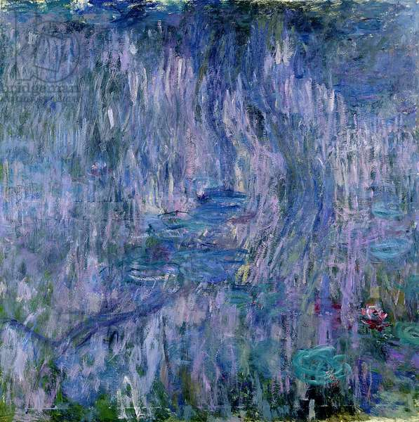 Waterlilies and Reflections of a Willow Tree, 1916-19 (see detail 414405) (oil on canvas)
