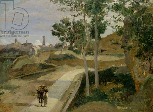 Road from Volterra (oil on canvas)