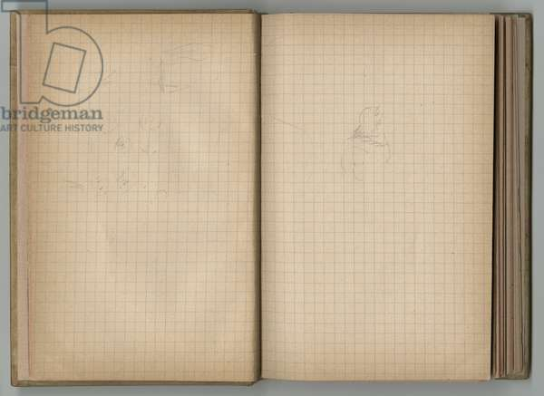 Sketches, from a sketchbook, 1885, 1887-88 (pencil on paper)
