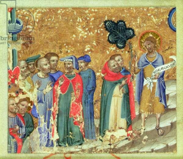 St. John the Baptist Preaching (vellum)