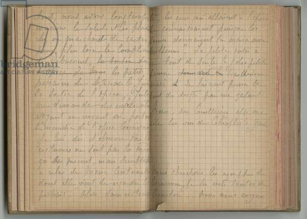 Handwritten pages, from a sketchbook, July 1887 (pencil on paper)
