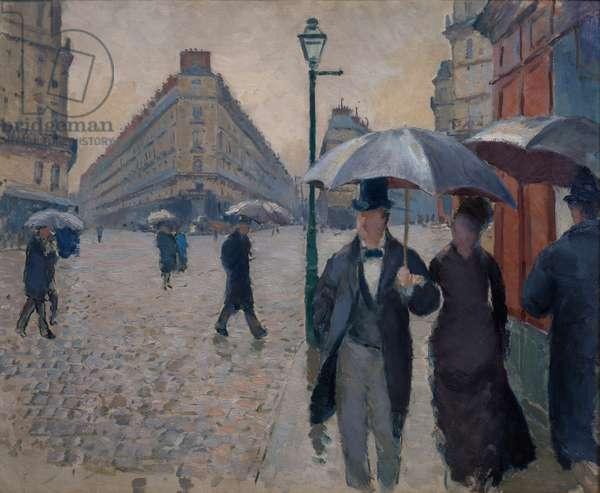 Rue de Paris, rainy weather, 1877 (after restoration)