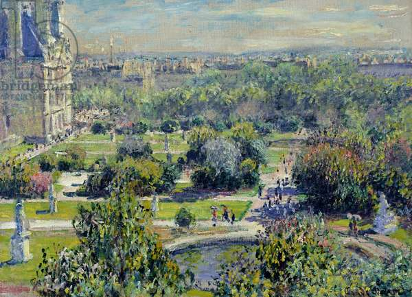 View of the Tuileries Gardens, Paris, 1876 (oil on canvas)