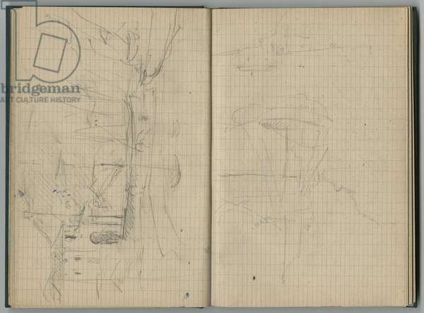 Harbour, from a sketchbook, 1888-89 (pencil on paper)