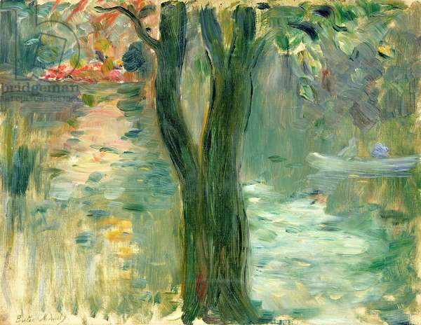 Sunset over the Lake, Bois de Boulogne, 1894 (oil on canvas)