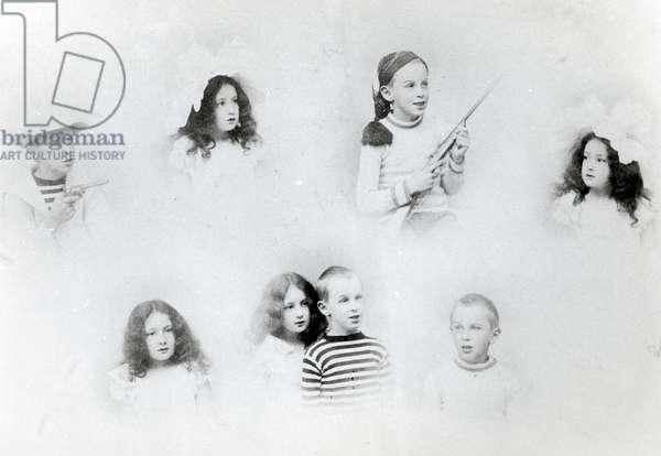 Grandchildren of Monet's second wife: American Family (b/w photo)
