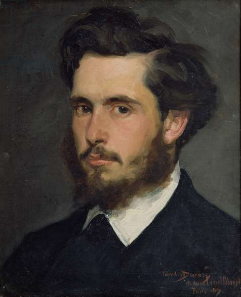 Portrait of Claude Monet (1840-1926) 1867 (oil on canvas)
