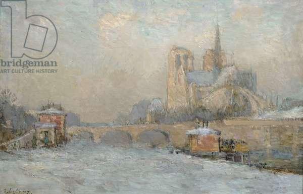 Quai de la Tournelle and Notre-Dame de Paris, 1909 (oil on canvas)
