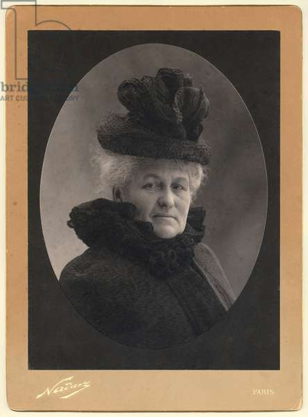 Alice Monet (1844-1911) 1899 (silver print) (b/w photo)
