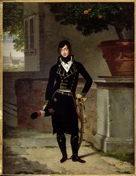 Portrait of an Officer of the Cisalpine Republic, 1801 (oil on canvas)