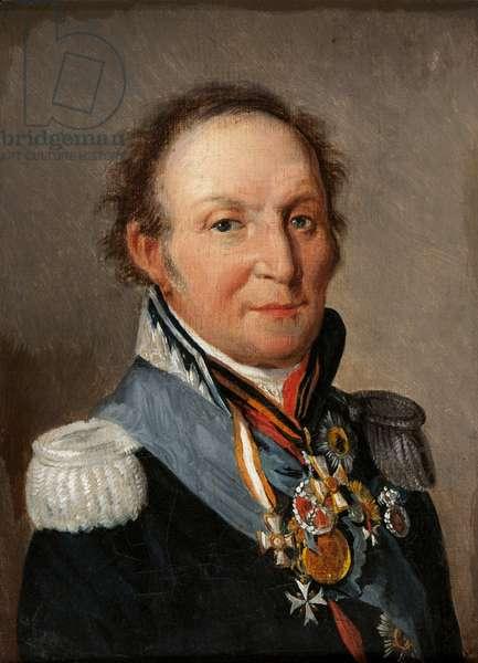 Portrait of Marechal Louis Adolphe Pierre de Wittgenstein (1769-1843) (oil on canvas)
