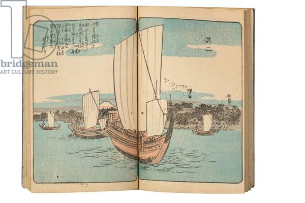 Pages from an manga album (colour woodblock print)