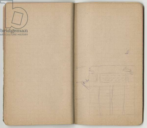 Sketch, from a sketchbook, Mezy, 1890-92 (pencil on paper)