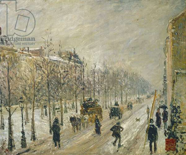 The Boulevards under Snow, 1879 (oil on canvas)