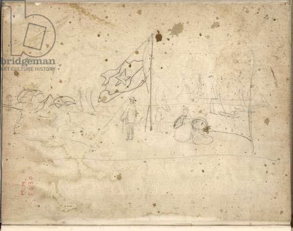 Regatta at Argenteuil (pencil on paper)