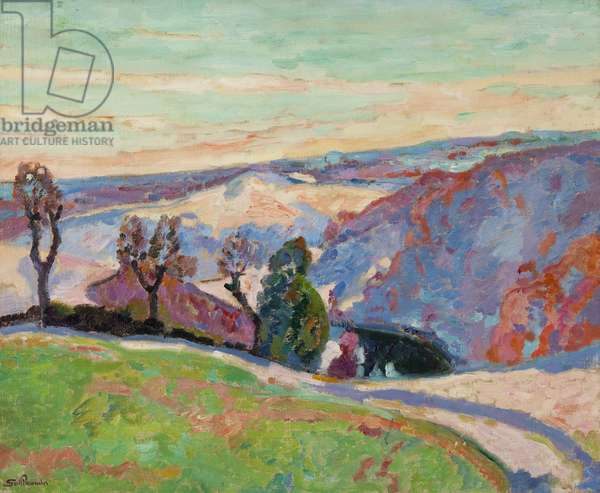 Puy Barriou and the Valley of La Creuse, c.1915 (oil on canvas)