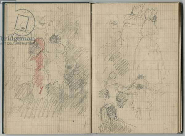 The Nice carnival, from a sketchbook, 1888-89 (pencil on paper)