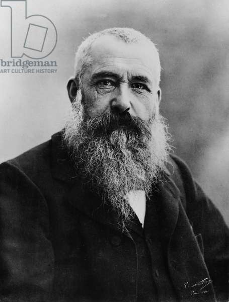 Portrait of Claude Monet, 1901 (b/w photo)